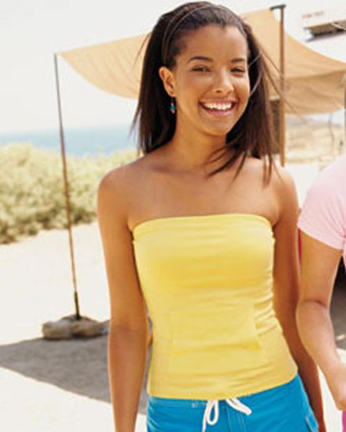 South beach cotton strapless t shirt capital logo inc for Strapless t shirt bra