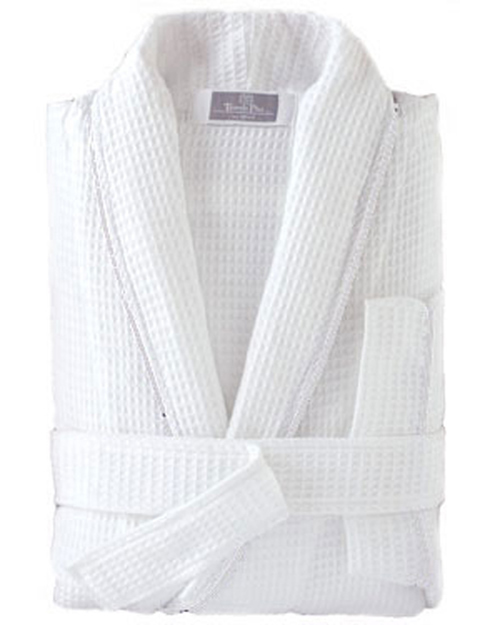 Cotton Waffle Robe with Piping - Capital Logo, Inc